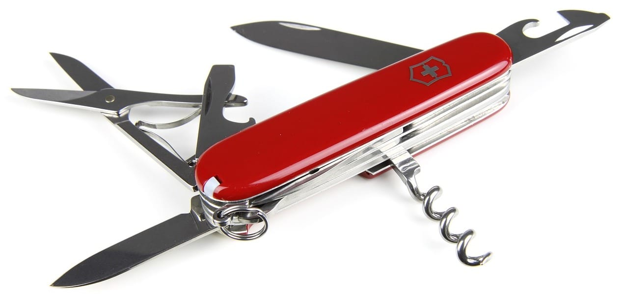 Photo of Swiss Army Knife for All-in-One Online Course Platform Concept